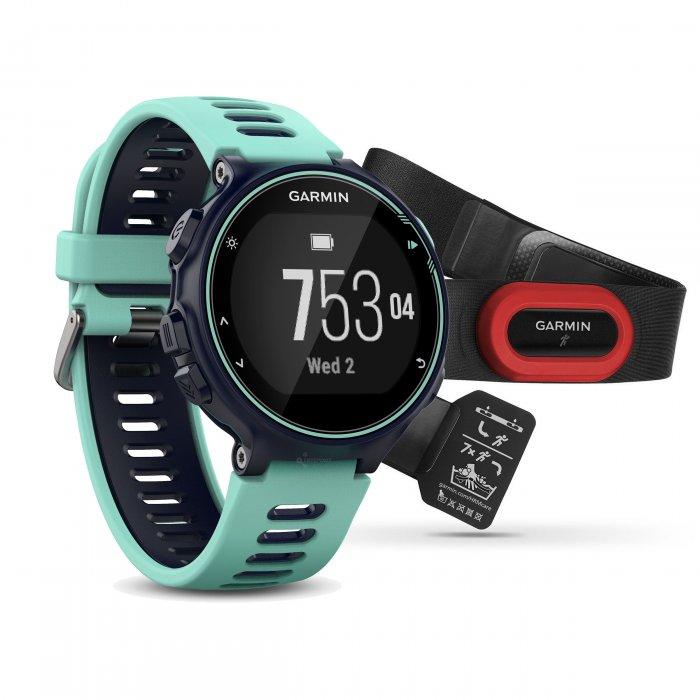 Garmin Forerunner 735xt albastru-turcoaz Bundle HRM-RUN - ceas cu GPS pentru alergare, bicicleta, inot, triatlon si alte sporturi