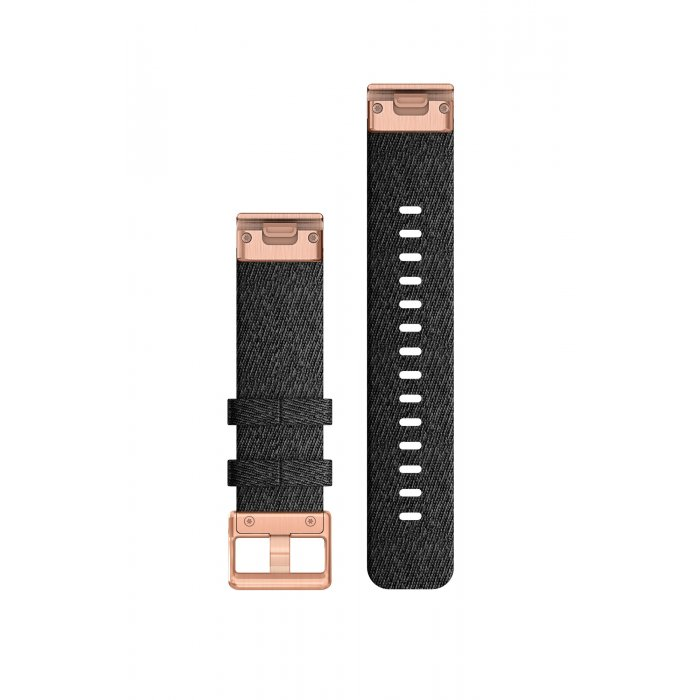Garmin curea nailon - QuickFit 20 - neagra - rose gold