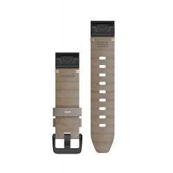 Garmin curea piele suede - QuickFit 20 - gri