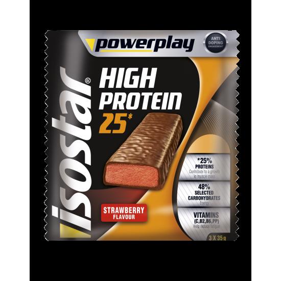 Powerplay High Protein Bar Strawberry 3x35g Isostar