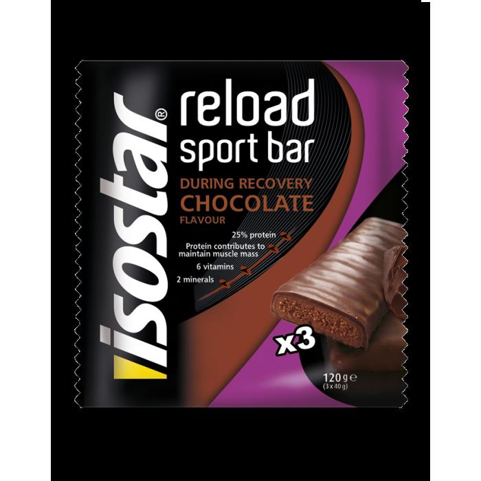 Reload Energy Bar Chocolate 3x40g Isostar