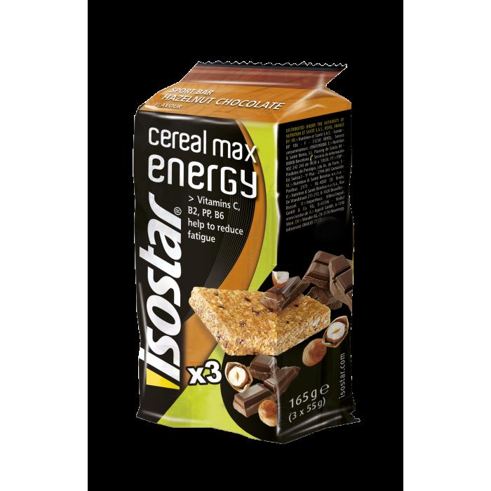 Trio Cereal Max Energy Bar Hazelnut Chocolate 3x55g Isostar